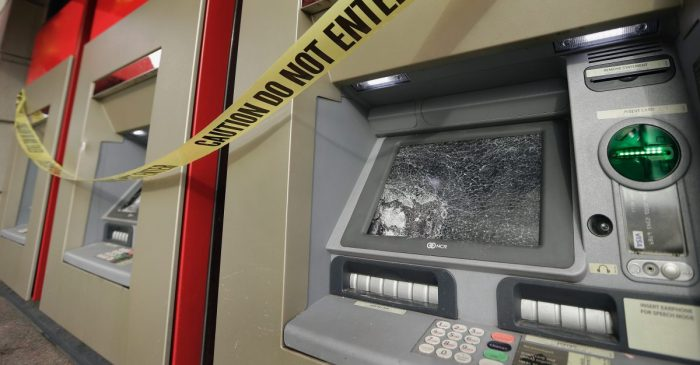 Thieves reportedly drive through convenience store window to steal ATM in Hobby area