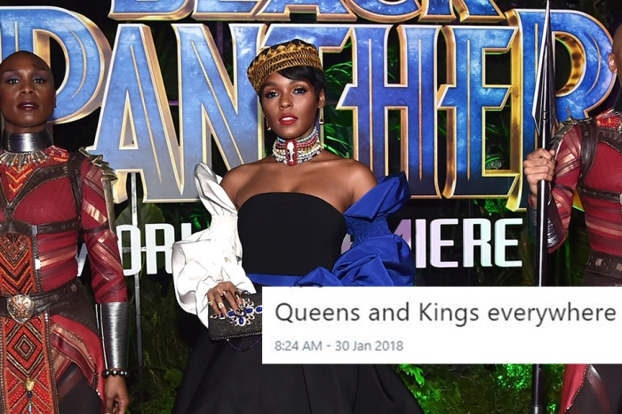 "The ""Black Panther"" cast wore ""royal attire"" to the film's premiere — and we're not worthy"