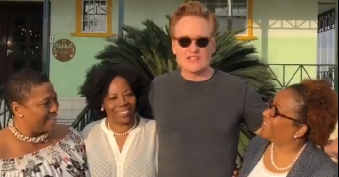 Conan O'Brien just tweeted his first video since landing in Haiti