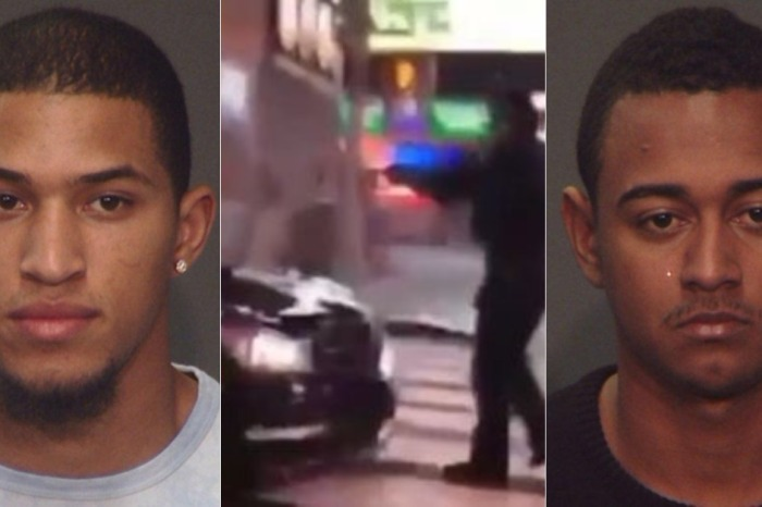After a police officer was dragged through Times Square by a car, the men allegedly behind the wheel are in custody
