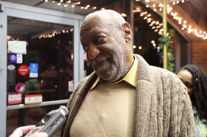 Bizarre video show disgraced comedian Bill Cosby returning home to a hero's welcome