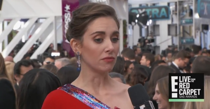 Things got awkward at the SAGs when Alison Brie was asked about her brother-in-law James Franco