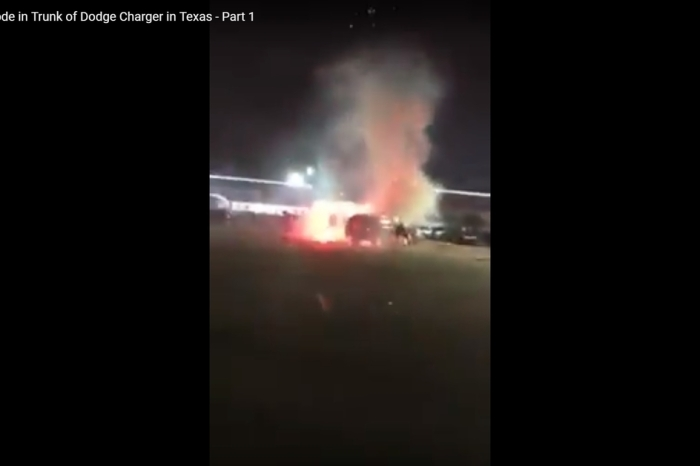 Fireworks explode car trunk in southwest Houston — video shows the shocking aftermath