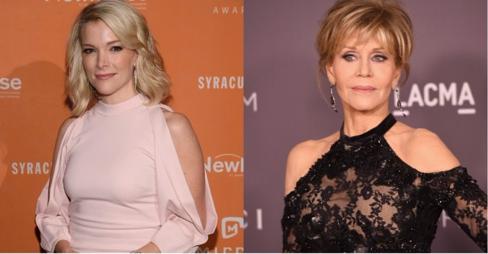 "Jane Fonda took a shot at Megyn Kelly on ""TODAY"" after Lily Tomlin joked about her plastic surgery"