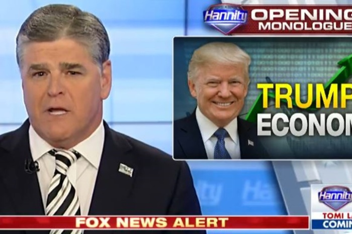 After Dow soars again, Sean Hannity can't get enough of President Trump's rip-roaring economy