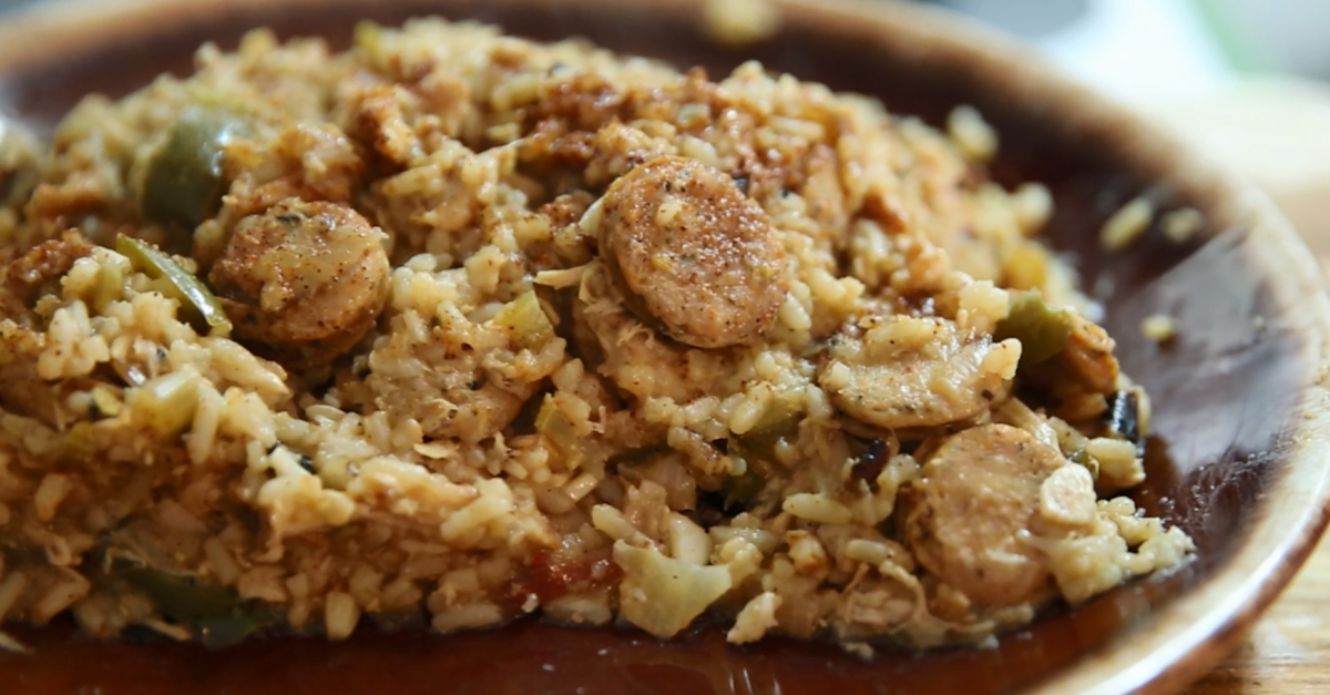 Let's Make   This spicy jambalaya will keep everyone coming back for more