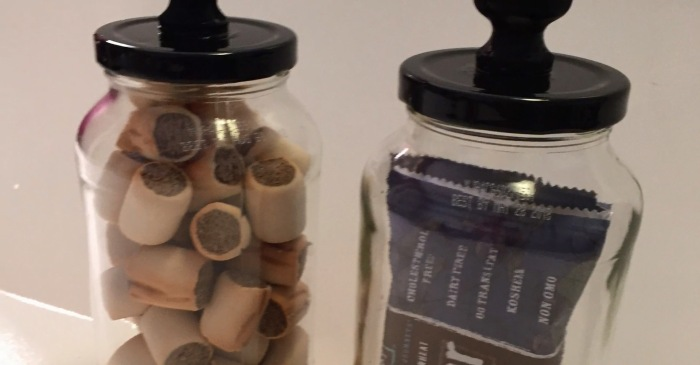 Don't throw that away — you can easily turn empty glass jars into stylish storage canisters