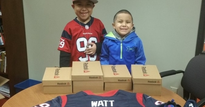 J.J. Watt keeps his promise to a young cancer survivor whose shoe game just got better