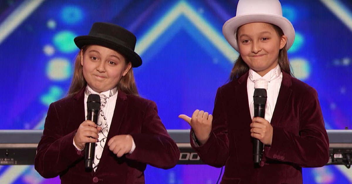 Even Simon was left speechless when these 9-year-old twins got behind the piano