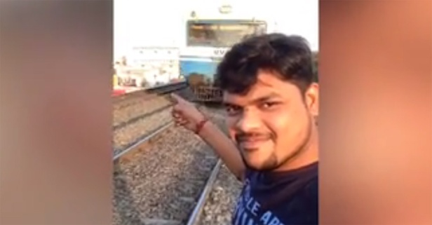 This guy's selfie video as a train roared by went horribly wrong, and he's lucky to be alive