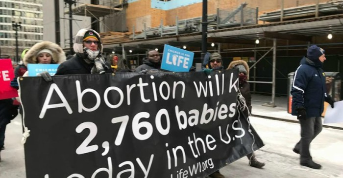 "Thousands of demonstrators flood in during ""March for Life"""
