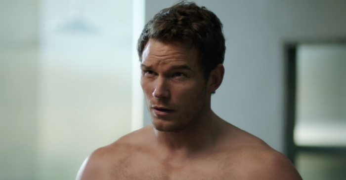 Hunky Chris Pratt takes his shirt and tackles a sexy new Super Bowl commercial
