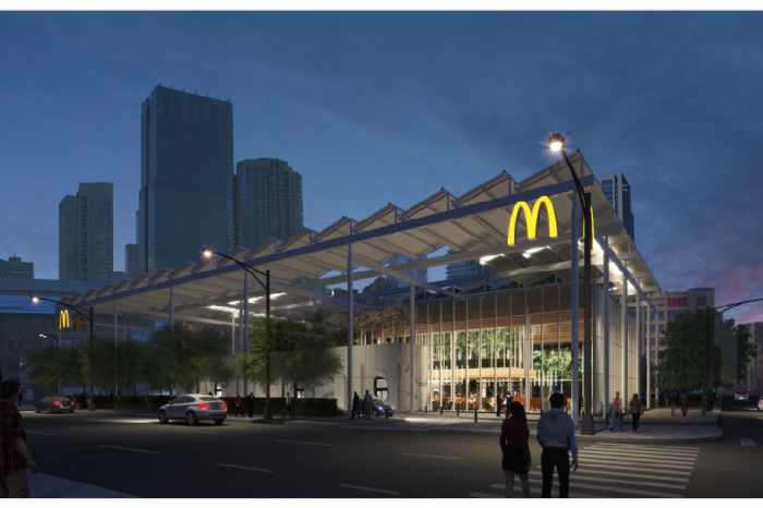 New renderings released for futuristic McDonald's in River North