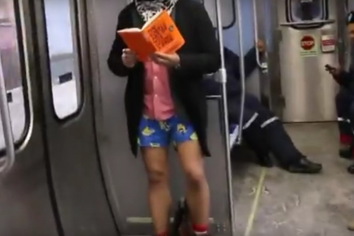 The No Pants Subway Ride happened and it left us feeling nippy