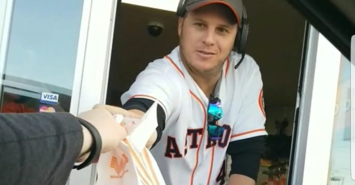Astros relief pitcher delivers home runs for fans in the form of Whataburger favorites