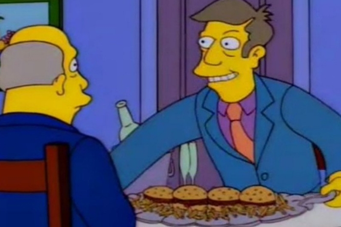 "Someone turned ""The Simpsons'"" Steamed Hams scene into an arcade game-style scene"