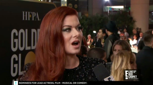 Debra Messing made Giuliana Rancic visibly uncomfortable by calling out E! to her face at the Golden Globes