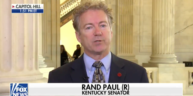 "Rand Paul says he will be a ""no"" vote on the spending bill"