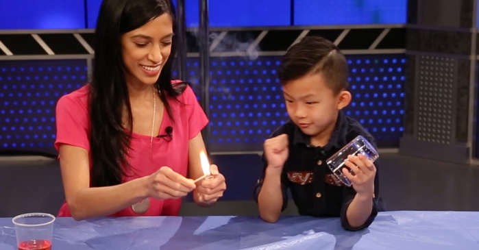 This 5-year-old genius shows you how to become a master of air pressure with a few simple items