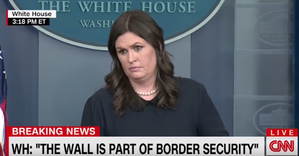 Watch Sarah Huckabee Sanders completely shut down a CNN reporter during a testy press briefing