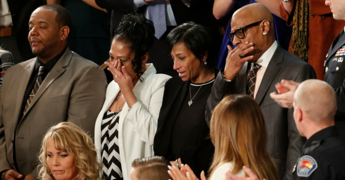 Nearly everyone stood when Trump shared 2 families' heartbreaking losses to illegal immigrant violence