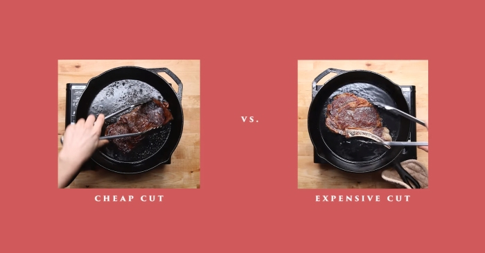 You're doing it wrong: you should be cooking cheap steak very differently than you do expensive cuts