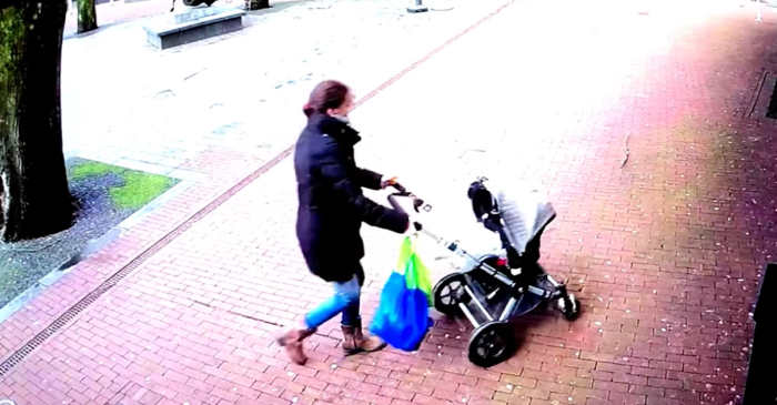 This video of a mom, her baby stroller and a falling tree is jaw-dropping