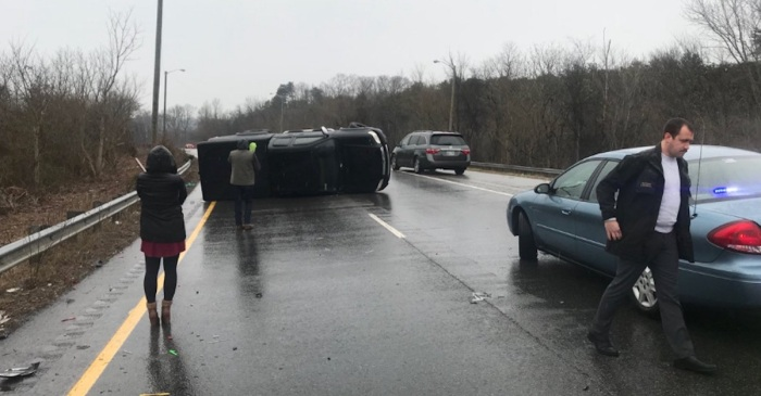Tennessee drivers had an awful time on icy roads today — the photos of the carnage are no joke