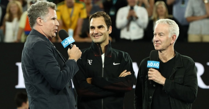 Will Ferrell just interrupted a Roger Federer interview — and it was everything we wanted