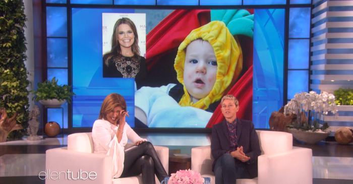 "Ellen plays a special ""TODAY"" edition of ""Rate My Baby"" with new mom Hoda Kotb"