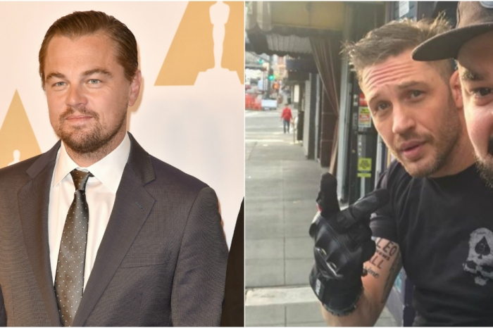 Tom Hardy lost a bet to Leonardo DiCaprio and now the world can see his punishment