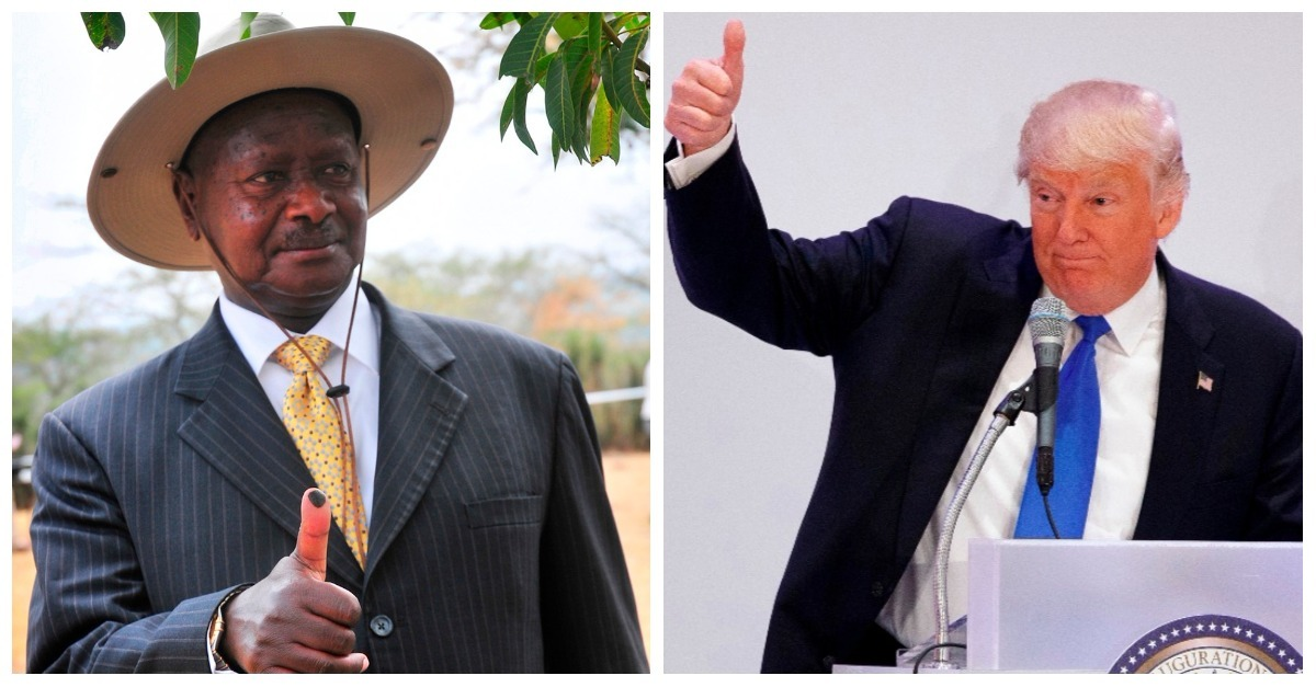 """Ugandan president's response to Trump and """"sh*tholes"""" threw a major wrench into the narrative"""