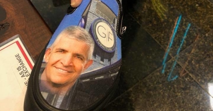Mattress Mack gets customized treat from Vans shoes