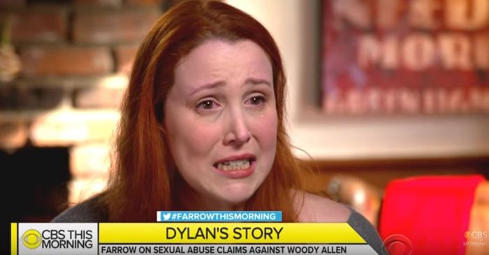 Dylan Farrow tearfully recounts alleged sexual abuse at the hands of her adoptive father Woody Allen