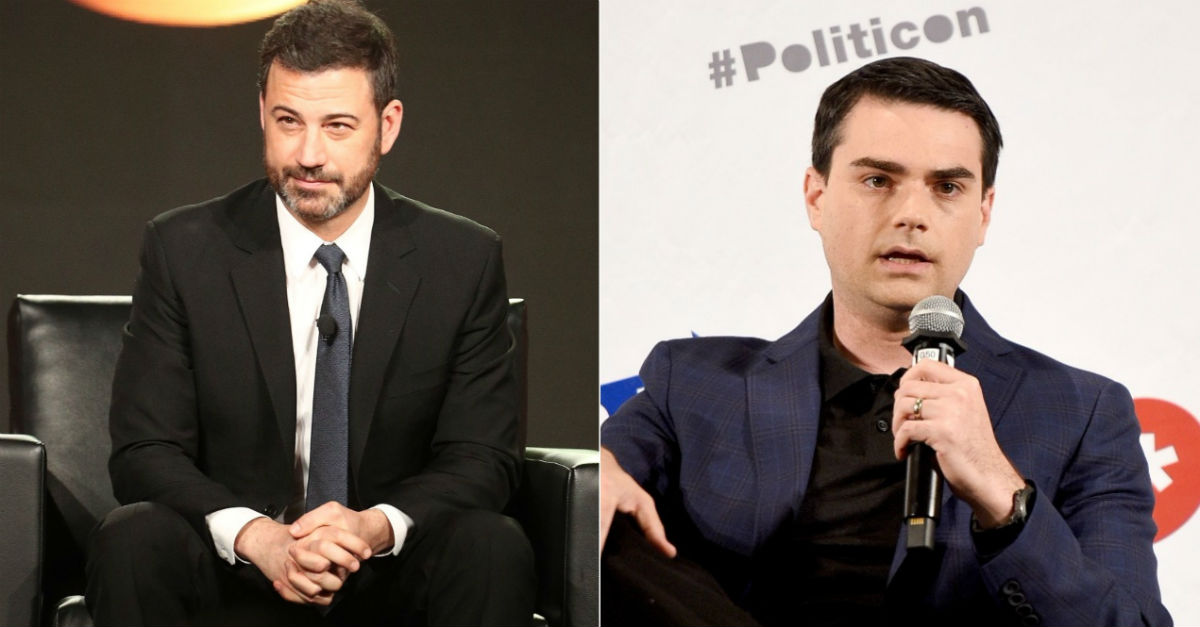 Jimmy Kimmel and Ben Shapiro