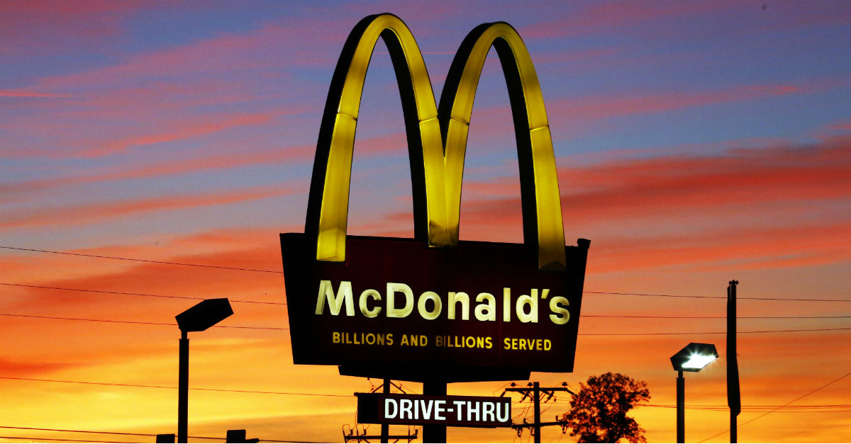 McDonald's drive-thru fast food