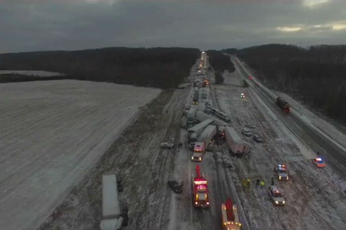 Footage from a Missouri highway's largest crash ever is a reminder to drive carefully in the winter