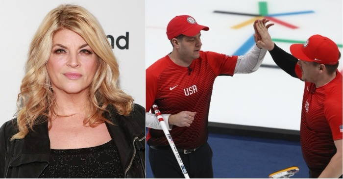 Kirstie Alley is gonna need ice after this burn from the US Olympic curling team