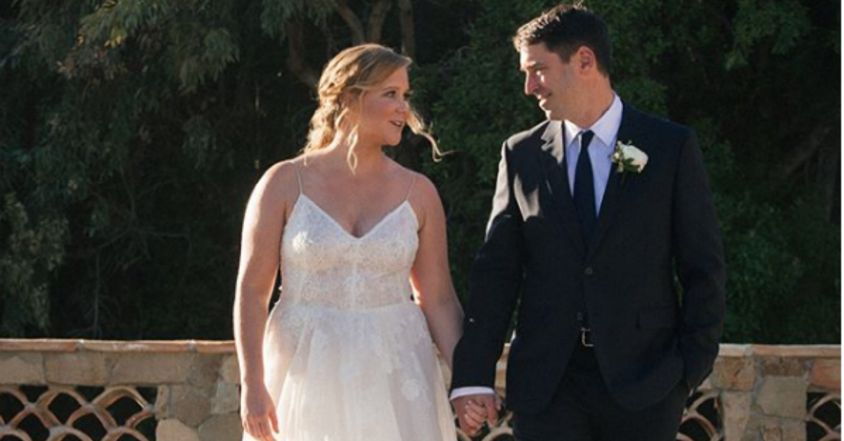 Comedian Amy Schumer married