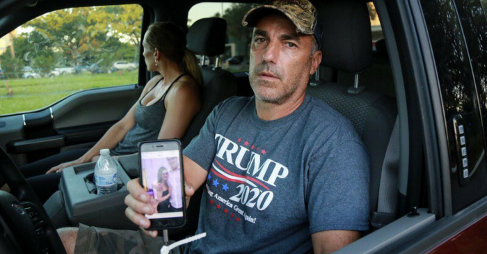 Grieving father of a Florida school shooting victim is under fire for showing support for President Trump