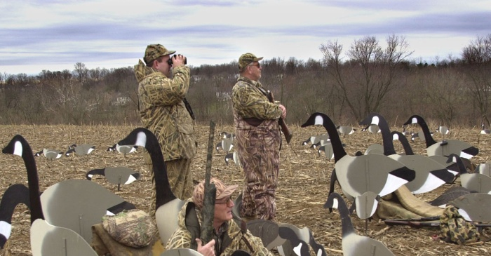 A goose avenged its own death after a run in with a group of Maryland hunters