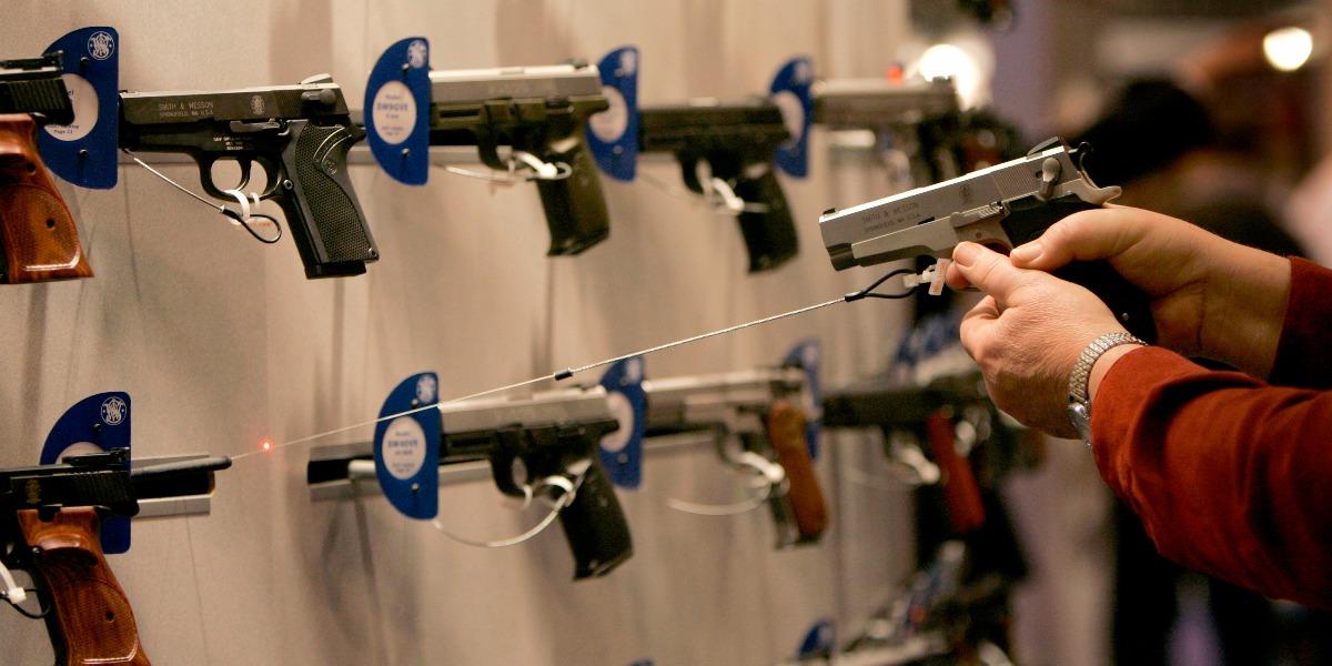 handgun, laser sight, NRA