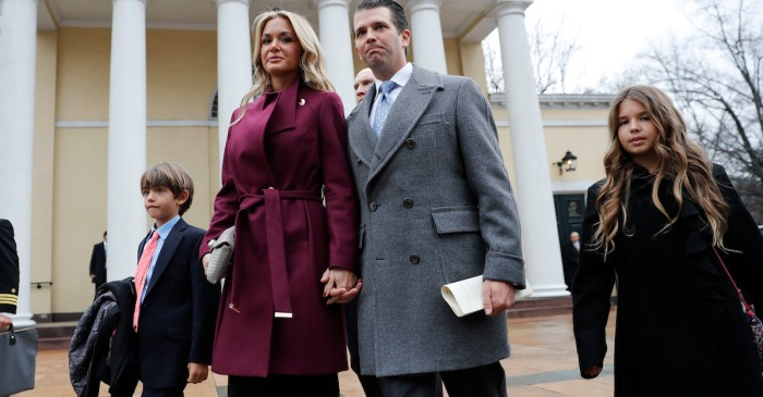 Donald Trump Jr. is on high alert after his wife opened a suspicious letter and was hospitalized