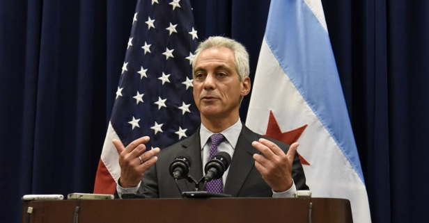 Mayor Emanuel responds to Trump's comments about having more guns in schools