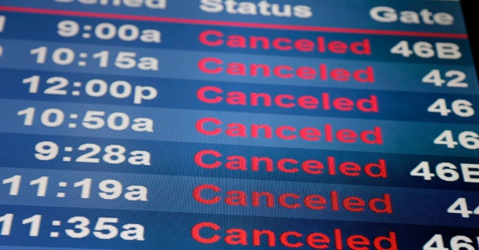 Over nine hundred flights have been cancelled at O'Hare and Midway