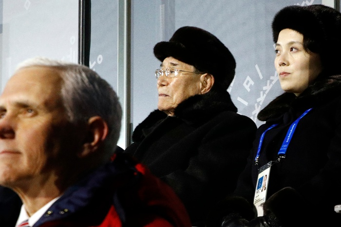 VP Mike Pence was spotted at the Olympics sitting by someone very close to Kim Jong-Un