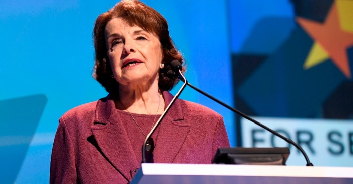 Dianne Feinstein will probably win another term in November, but many California Democrats won't be pleased with the result