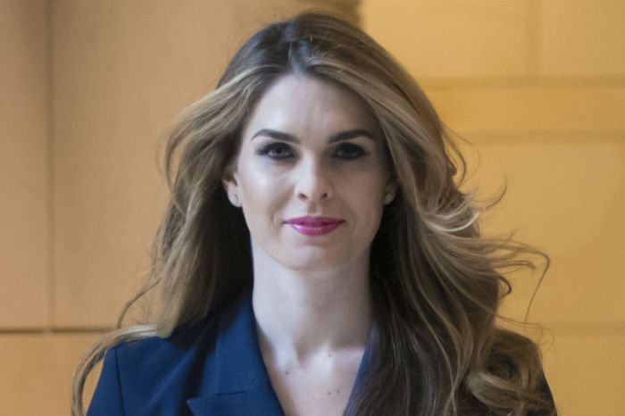 White House Communications Director Hope Hicks is leaving the building