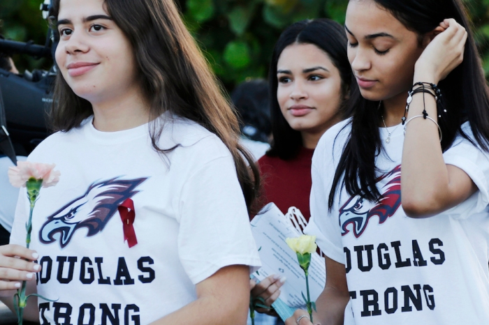 Marjory Stoneman Douglas students return to class for the first time since deadly shooting