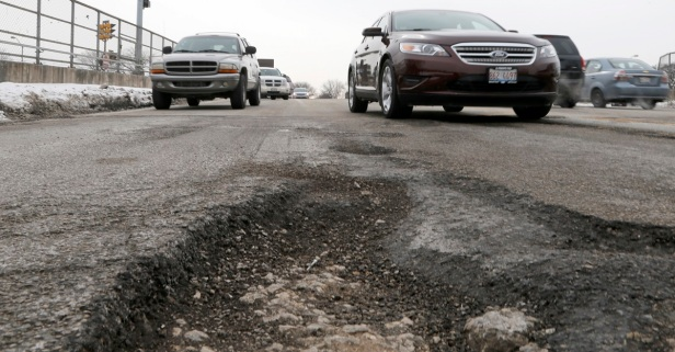 Recent changes in weather means a huge uptick in potholes around Chicago; here's what you can do